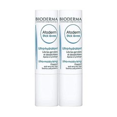 [미국] Bioderma - Atoderm - Lip Stick - Hydrating Soothing and Renewing Lip Stick - for Dry Lips, 단일상품, 2 x 4 Gram