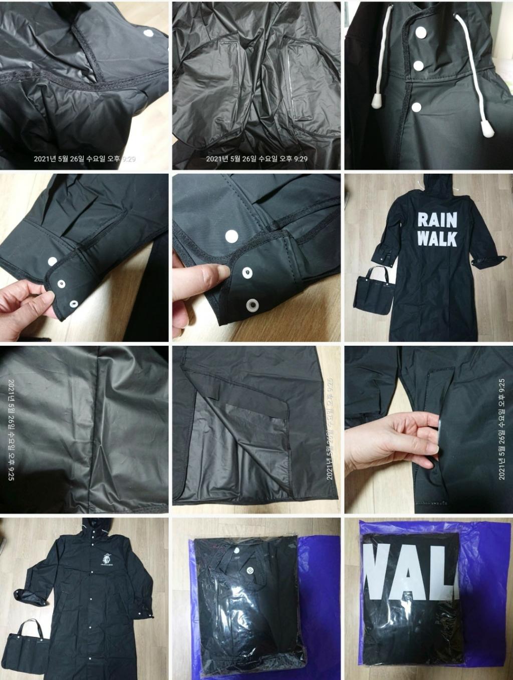 라이프란스 EVA 코트형 고급우비 판초우의 빅사이즈 레인코트 비옷 커플  리뷰 후기
