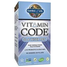 Garden of Life 비타민 코드 50 & 와이저 맨 120개입 베지테리안 캡슐