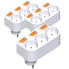 리빙듀오 회전 절전형 3구 멀티탭 스위치, 3개입