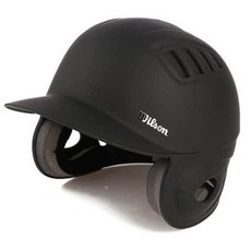 윌슨 조절형 양귀 타자헬멧 B2062K1, 검정색