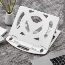 홈플래닛 7단 조절 접이식 노트북 거치대 중형, 화이트
