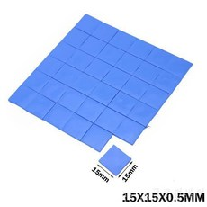 200PCS 15*15*0.5MM 블루 실리콘 IC 칩 전도 풀 컴파운드 히트싱크 써멀패드, 상세내용참조