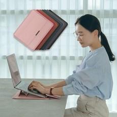 이코노미쿠스 맥북 프로 에어 m1 삼성 LG그램 가죽 13인치 15인치 노트북 파우치 케이스, 핑크, 15/15.6/16인치