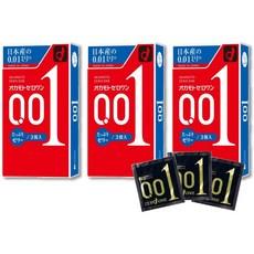 오카모토 콘돔 제로원 0.01 3개입 일본 초박형 콘돔 젤타입, 3박스