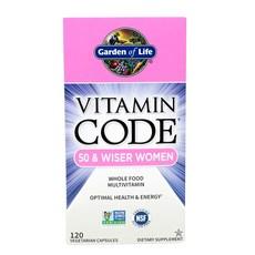 Garden of Life 비타민코드 50 & 와이저 우먼 120개입 베지테리안 캡슐