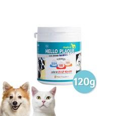 헬로플라그120g [9개월분] 입냄새 잇몸건강 치석제거 분말형 100%천연치약 스케일링 치주질환예방 구강건강 강아지 고양이 겸용 구강영양제