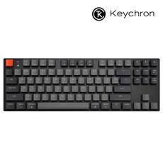 키크론 K1 V4 텐키리스 LED 애플 맥 기계식키보드, 갈축
