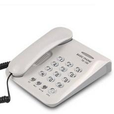 태경전자 TK-100 전화기 유선 가정용 사무용 키폰 인터폰 유선전화기, TK-100 (화이트)