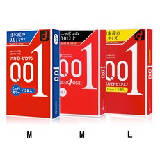 오카모토 콘돔 제로원 0.01 3개입 일본 초박형 콘돔 일반형, 3개