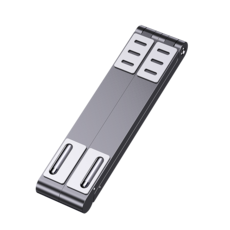 SSOK3 쏙쓰리 알루미늄 휴대용 노트북 맥북 거치대 접이식받침대, 스페이스그레이