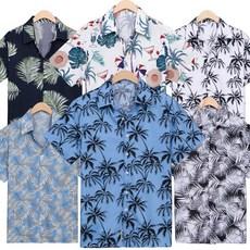 일루소 하와이안 남자 빅사이즈 반팔 셔츠 DF382-387