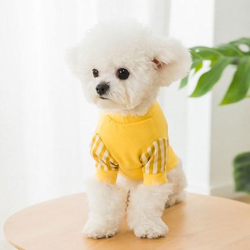 마이바우 반려동물 심플체크소매 티셔츠
